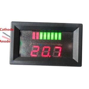 12V Led Battery Indicator Voltmeter Monitor Level Meter Gauge Lamp Indicator