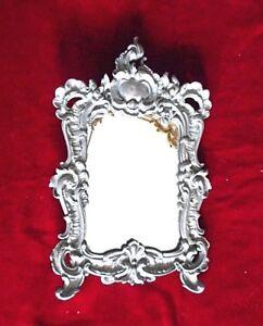 Vintage  metal  Art  Decor  table  Mirror. Mirror for dressing table White metal
