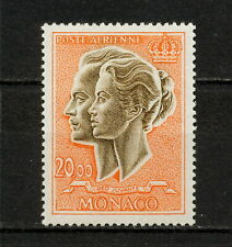 (YYAY 446) Monaco 1971 MNH Mich 1021 Scott C72A Rainier III,  Princess Grace AIR