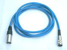 Tuchel Adapter Kabel Kleintuchel-XLR 2m Mikrofonkabel blau