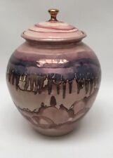 Corona Celestial Pink Bruce Fairmain Ceramic Cremation Urn 22K Gold Glaze