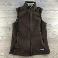 *Women's PATAGONIA SYNCHILLA Full-Zip Fleece Vest Brown M