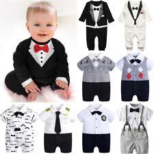 Newborn Baby Infant Boy Romper Gentleman Clothes Casual Party Bodysuit Jumpsuit