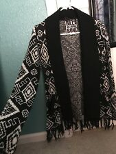 Billabong Open Cardigan With Fringe For Women In Size M