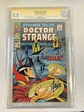 Strange Tales #168 Doctor Strange MARVEL 1968 SIGNED STAN LEE, CGC 7.5VF-