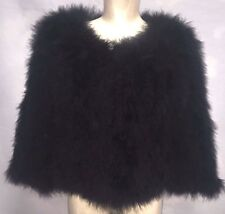 Luxury Women 100% Real Soft Ostrich Feather Fur Leadies Jacket