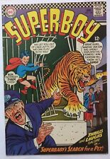 Superboy #130 DC comic book 1966 Superbaby tiger zoo cover VG+