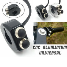 Black Aluminum Motorcycle Bar Switch Push Button Latch / Momentary 22mm Custom