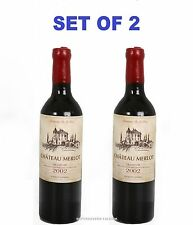 2 NOVELTY WAX CANDLE LIGHT RED WINE BOTTLE SAHPE REAL SIZE PARTY HOME DECORATION