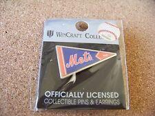 NY New York Mets logo pennant shape lapel pin MLB