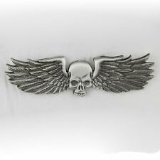 Biker Chopper Skull Metal Wings Skullwing Totenkopf Pin Anstecker Anstecknadel