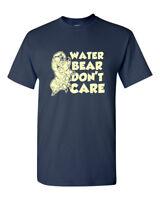 Water Bear Tardigrade Biology Funny Humor Pun Men Adult Graphic T-Shirt Apparel