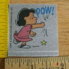 Lucy punching POW sticker Wonder Bread Peanuts 1970s VINTAGE unused decal