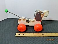 Vintage Fisher Price Little Snoopy Puppy Wood Pull Toy 1965 Collectible #693