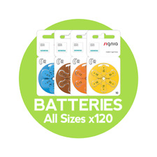 Hearing Aid Batteries - Siemens Brand - All Sizes (120 Cells)