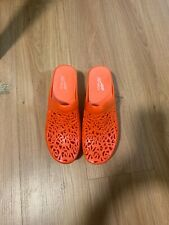 Dansko Jelly Mules Womens Slip On Cutout Jelly Clogs Orange EUR 40