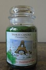 Yankee Candle  Christmas in Paris  22 oz.  1 Single  NEW   Free Shipping  Rare