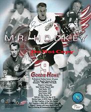 Gordie Howe Detroit Red Wings autographed 8x10 photo RP