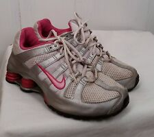 Nike Shox Turb OH white perfect pink metallic silver Shoes size 5Y