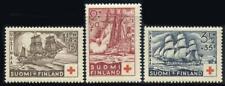 Finland: 1937 Historic Ships Semipostals (B24-B26) Mint