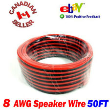 50 FT 15m High Definition 8 Gauge 8 AWG Speaker Wire Cable Home Theater