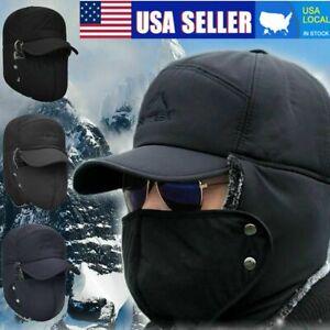 Winter Face Mask Aviator Hat Cover Trooper Bomber Ear Flap Ski Windproof Cap