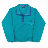 Vintage PATAGONIA  Blue Outdoor Collared Jumper Womens M