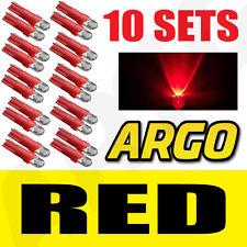 10 x Sets T5 286 Led ULTRA ROJO Pantalla Bombillas Xenon 12v luz Indicadores