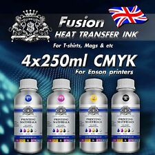 1l-4x250ml Sublimazione Inchiostro per Stampanti Epson TAZZE Tshirt pressa di calore trasferimento