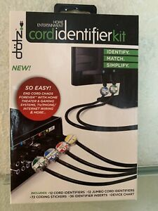 Dotz Home Entertainment Cord Identifier Kit Cord and Cable Management DCI131HEK