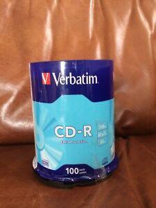 Still Sealed 100 Verbatim CD-R Blank Discs