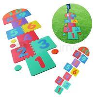 Giant Hopscotch Indoor Outdoor Garden Playroom Kids Family Fun Foam Mat Tiles