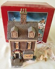 "LANG and WISE Folk Art Village Joy of Christmas ""BEAR TOY SHOPPE"" 1997 1st Editn"