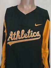 Nike Oakland Athletic Mlb Warm Up Pullover Dark Green Gold Crisp Xl