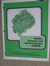 1988 Ford Truck Engine Emission Related Systems Manual 2.0L I-4  2.3L OHC  R