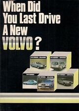 Volvo 1980-81 UK Market Foldout Sales Brochure 340 240 260 Series