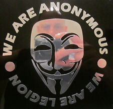 Anonymous  mask CHROME decal sticker We are Legion