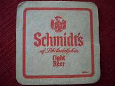 Schmidt's of Philadelphia Light Beer Coaster-1 sided
