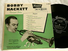 "BOBBY HACKETT Trumpet Solos Bill Challis Eddie Condon Brunswick 10"" LP"