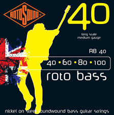 Rotosound Rb40 Roto Nickel On Steel Bass Strings 40-100