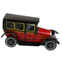 Iron Antique Classic Spanish Mini Wind-Up Taxi Car Kids Room Home Desk Decor
