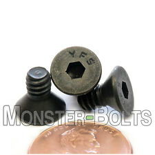 "#10-24 x 3/8"" - Qty 10 - FLAT HEAD Socket Cap Screws - Alloy Steel Black Oxide"