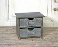 Mini-Kommode mit zwei Schubladen Landhaus Industriestil Mini Kommode