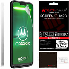 3 Pack of TECHGEAR Clear Screen Protector Guards for Motorola Moto G7 Power