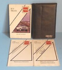 90 1990 GMC R/V Series Truck owners manual