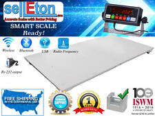 "Floor Scale Wireless 2500 lbs x 0.5 lb RS-232 Port 48"" x 96"" Industrial Pallet"