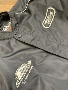 Harley Davidson Men's Black Nylon Race Bomber Jacket Size Medium