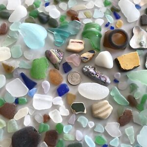 Genuine Beach Sea Glass - One Full Pound Great Value Surf-tumbled Lovely Pieces