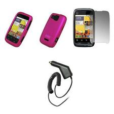 for Motorola CITRUS Pink Soft Case+Shield+Car Charger