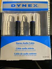 New listing Dynex Stereo Audio Cable for Mp3 Dx-Mp353B 3 ft Cable 3.5 mm Box Damage